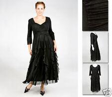 NEW Zaftique ENCHANTED GALA DRESS Black 0Z 6Z / 14 16 20 L XL 1X 2X 3X 4X 5X 6X