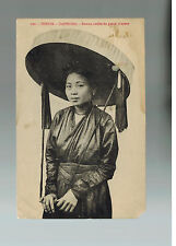 1919 Haiphong Tonkin Vietnam RPPC Postcard Cover to USA  Native Woman with hat