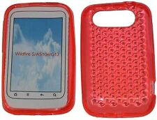 For HTC Wildfire S A510e G13 Pattern Soft Gel Jelly Case Protector Cover Orange