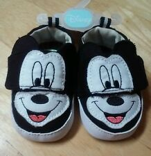 Disney black Mickey infant shoes, size 1 (0-3 months)