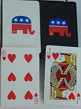 Republican Politics Elephant Playing Cards American Poker Rummy Blackjack 2 Deck