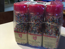 Cake Mate 2.1 Ounce Nonpareils Decorating Decors Rainbow, Case Of 6
