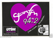 Autocollant Sticker Pub - Stan FM 94.2 Nancy Radio an. 80