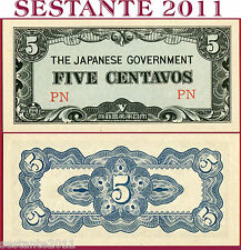 PHILIPPINES - FILIPPINE - 5 CENTAVOS 1942 Japan Occupation - P 103a  - FDS / UNC