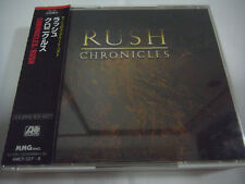 RUSH-Chronicles JAPAN 1st.Press w/OBI 2CD Pink Floyd Yes Iron Maiden AC/DC Kiss