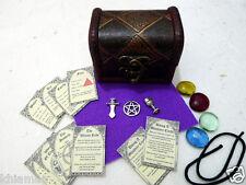 MINI ALTAR KIT pocket travel size set wicca wiccan pagan miniature chest PURPLE