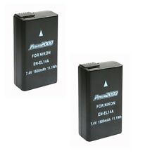 TWO 2X EN-EL14A Batteries for Nikon D3400 Digital Camera