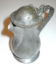 "ANTIQUE 4"" HANDMADE COLONIAL STYLE METAL PITCHER"