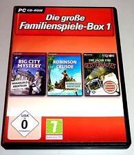 DIE GROßE FAMILIENSPIELE-BOX 1 PC DEUTSCH Wimmelbild Big City Mystery Crusoe