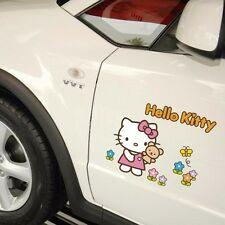 Hello Kitty Cat Bear Butterfly Flowers Side Door Window Wall Decals Car Stickers
