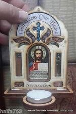 Jerusalem Russian Blessing for home candle holder made in Israel Holy Land gift