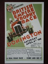 POSTCARD  1936 5TH INTERNATIONAL BRITSIH EMPIRE TROPHY RACE POSTER
