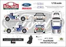 [FFSMC Productions] Decals 1/18 Ford RS 200 Rally of Portugal 1986