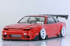 1/10 RC Car Body Shell  NISSAN 180SX  ORIGIN LABO  Drift Body  W/ Light Buckets