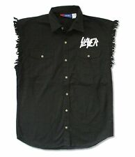 Slayer Eagle Shield Tattered Button Down Denim Vest New Official Adult Medium M