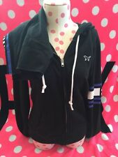 Set! Victorias Secret PINK Hoodie And Shorts Black Medium NWT