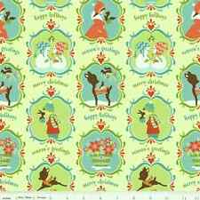 1 Fat Qtr Alpine Wonderland CHRISTMAS CAMEOS Birds Squirrel Deer R. Blake Fabric