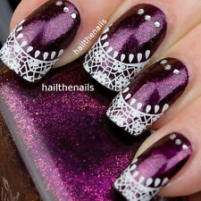 Nails WRAPS Nail Art Water Transfers Decals French Lace Sticker Tips Y872