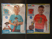 Set of 2 Pirate Design Short Sleeve T-Shirts by Lupilu - Age 12-24 Mths - BNWT!!