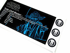 UNIQUE 'DIE CUT' PLAQUE STICKER for STAR WARS YODA DISPLAYS, Lego 7194 ,ETC +++
