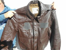 Cooper Sadderly Leather Flight Jacket,  A2 Goat Skin. Size 48 L Excellent.