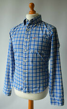 Men's Blue Checked Hollister California Shirt Size S, Small.