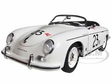 PORSCHE 356 SPEEDSTER WHITE #23F 1/18 DIECAST CAR MODEL BY AUTOART 77865