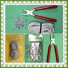 "DOLL RESTRINGING KIT Hog Ring Pliers, Hog Rings & 3 yds Elastic Cord 18-32""Dolls"