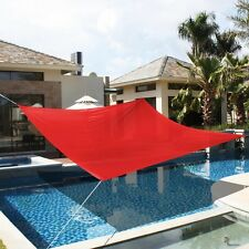 18' x18' Deluxe Square Sun Shade Sail UV Top Outdoor Canopy Patio Lawn Red New