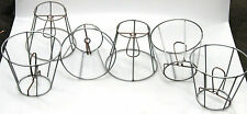 Clip-on Wire Shade Frames for Chandeliers & Sconces, Industrial Steampunk Shades