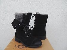 UGG GRADIN BLACK SUEDE/ SHEEP WOOL LINED CONVERTIBLE BOOTS, US 7/ EUR 38 ~NEW