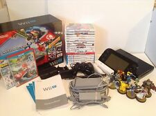 Nintendo Wii U Deluxe With Games, Amiibo, And Controllers