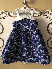 NEW Girls GYMBOREE DRESS BLUE ZEBRA Size 2T VERY NICE