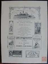 MENU, Societe archeologique. Le vieux papier.1913