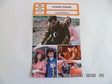 CARTE FICHE CINEMA 1987 FUCKING FERNAND Thierry Lhermitte Jean Yanne C.Valandrey