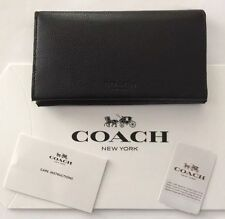 NWT Coach Men's $125 Universal Sport Calf Leather Phone Case Wallet Black F63646