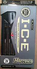 Harrows Black I.C.E 24g Steel Tip Darts 90% Tungsten 51535 w/ FREE Shipping
