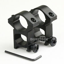 2Pc High Profile See Through 25.4mm Scope Rings 21mm Picatinny Weaver Rail Mount