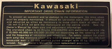 KAWASAKI GPZ1100 GPZ1100B1 GPZ1100B2 IMPORTANT DRIVE CHAIN CAUTION WARNING DECAL