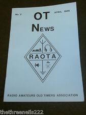 AMATEUR RADIO - RAOTA - OT NEWS #2 - APRIL 1986