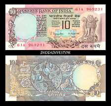 REPUBLIC INDIA 10 RUPEE 2 PEACOCK S JAGANNATHAN SIGNATURE NOTE UNC CRISP