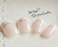 24Pcs Full Nail French Tips Natural Finger Toe False Fake Art Cover Manicure A