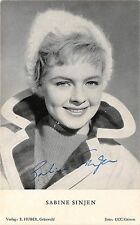 B82780 sabine sinjen   movie star autograph front/back scan