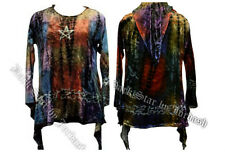 JORDASH STRETCH/LOOSE FIT VELVET TOP WITH POINTY LARGE HOOD 16/18/20