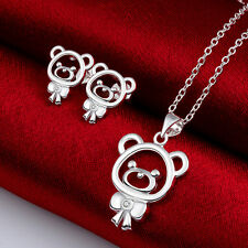 Childrens Girls Kids Jewellery Gift Set Necklace Earrings 925 Sterling Silver