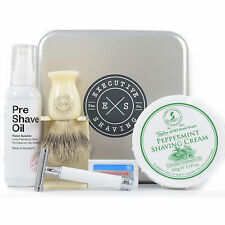 Executive Shaving Blanc Starter R107 Safety Razor & Super Badger Brush Gift Set