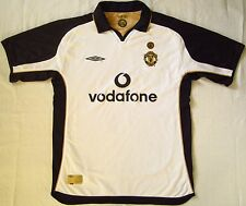 MANCHESTER UNITED ENGLAND 2001/2002 AWAY/THIRD FOOTBALL SHIRT JERSEY UMBRO