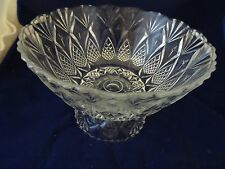 """ANCHOR HOCKING """"HERITAGE"""" FOOTED SERVING BOWL-IN ORIG. BOX-MADE IN FRANCE-NEVER"""
