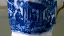 Extremely Scarce Liverpool Pearlware 'Figures with Dog in Garden' Milk Jug  1780