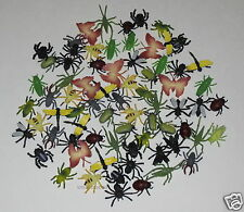 72 Assorted Plastic Bug & Insect Figures Kid Party Goody Bag Filler Favor Supply